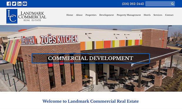 Landmark Commercial Real Estate Desktop View
