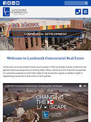 Landmark Commercial Real Estate Tablet View