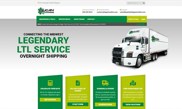 Dugan Truck Line Desktop Site